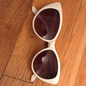 Asos White Cat Eye Glasses